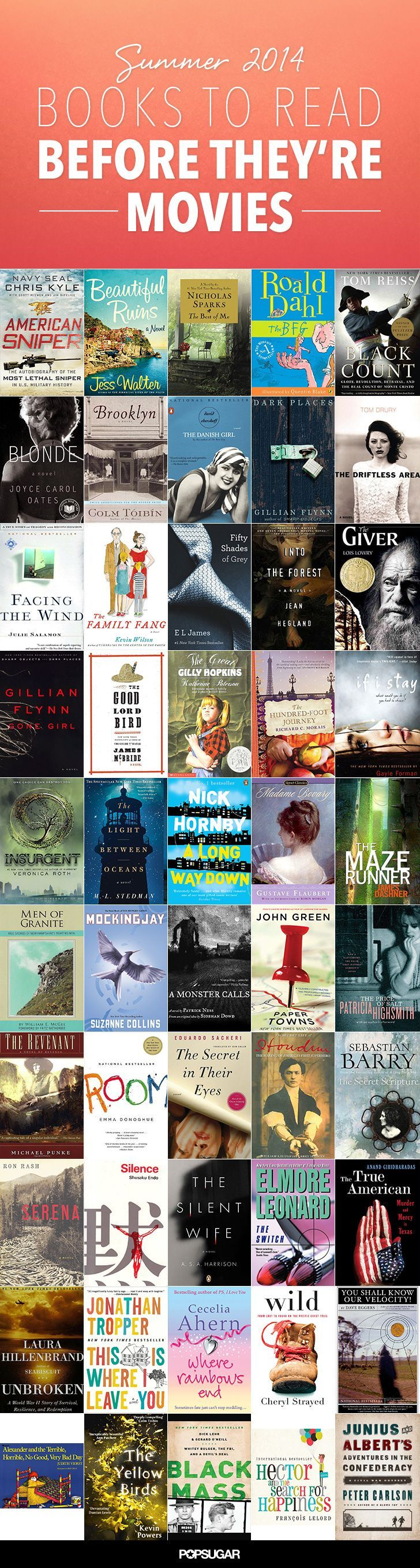 14 best books worth reading images on pinterest books to read summer reading list 50 books to read before theyre movies fandeluxe Image collections