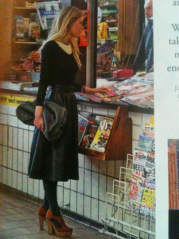 full leather midi skirt | wear | Pinterest