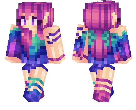 Minecraft pe skins: Colorful Girl -