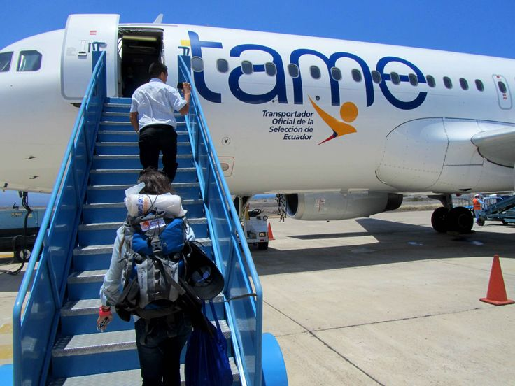 Departure flight from #Galapagos islands to #Guayaquil with #TAME Marchh 2015 Our review on www.placeok.com