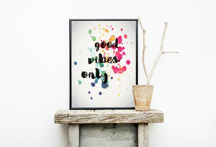 Good Vibes Only Home Decor Typography Poster Print Wall Art Decor Interior Indoor Inspirational Australian Made Artwork by Earthhomewares on Etsy