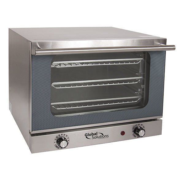 Global Solutions by Nemco GS1200 Quarter Size 3-Pan Countertop Convection  Oven - 120V, 1300W | Countertop convection oven, Countertop oven, Electric  convection oven