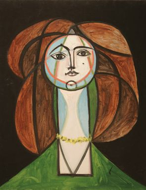 """Picasso is amazing!  This is his """"Femme au collier jaune,"""" painted May 31, 1946."""