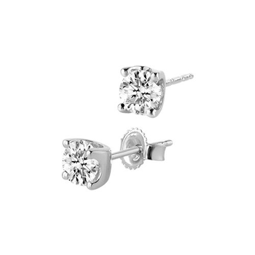 1 ct. tw. Canadian Diamond Solitaire Earrings in 14K White Gold