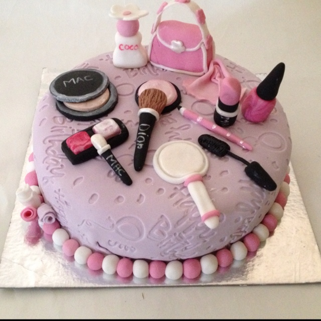... , Birthday Cakes 7 Year Old Girl, Makeup Cakes, Birthday Ideas