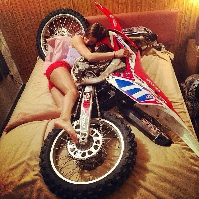 Naked girl dirt bike riding a motorcycle Certainly. agree