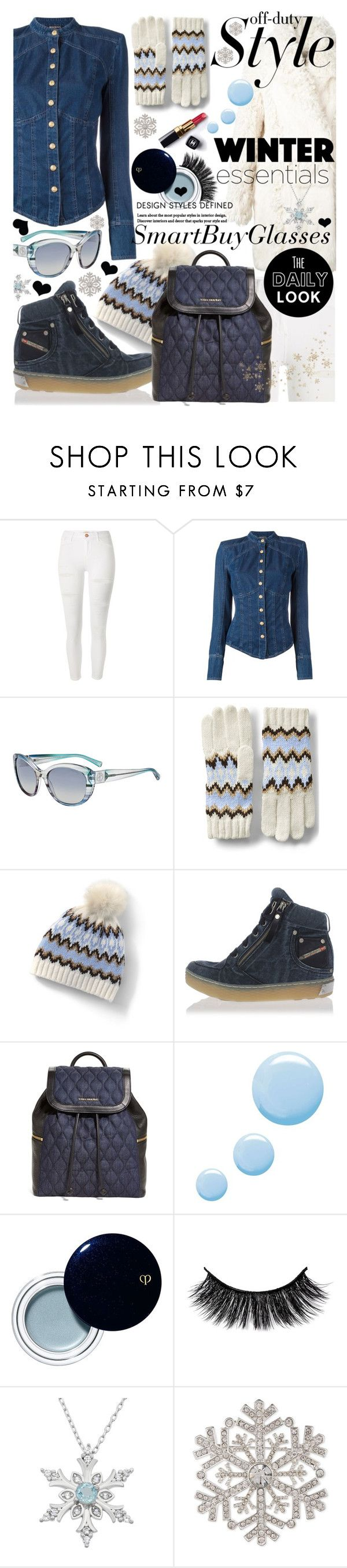 """""""Winter Look with the New Sunglasses - SmartBuyGlasses-UK!!!"""" by anin-kutak ❤ liked on Polyvore featuring River Island, Balmain, Giorgio Armani, Lands' End, Diesel, Vera Bradley, Topshop, Clé de Peau Beauté, Chanel and Anne Klein"""