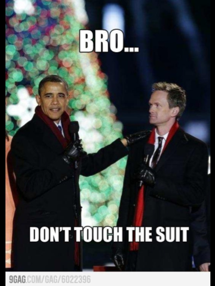 No respect! (for the suit of course)