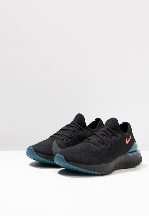 best service 26c3e f3da9 Nike Performance EPIC REACT FLYKNIT 2 - Neutral running shoes - black bright  crimson