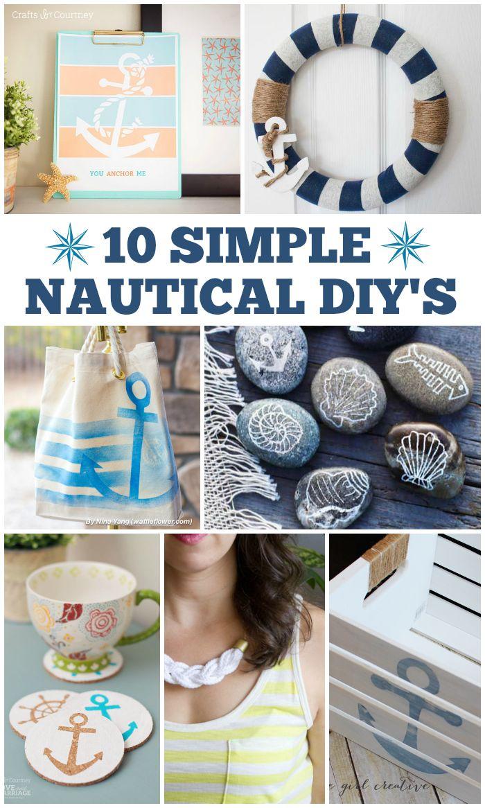 10 Simple Nautical DIYs  CRAFTS  DIY Home Decor Decor