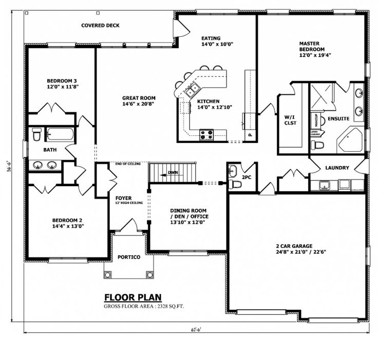 Best 25 bungalow house plans ideas on pinterest cottage for Open concept bungalow house plans canada