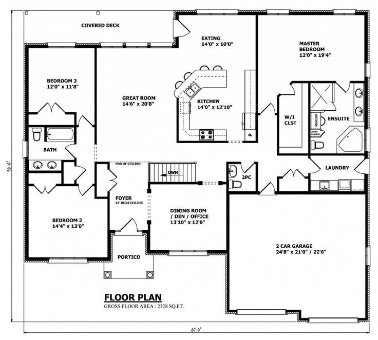 10 best Floor plans images on Pinterest Bungalow house plans - bungalow floor plans