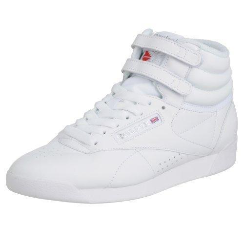 Oferta: 79.95€ Dto: -34%. Comprar Ofertas de Reebok Freestyle Hi - Zapatillas de cuero para mujer, color blanco (int-white/silver), talla 39 barato. ¡Mira las ofertas!