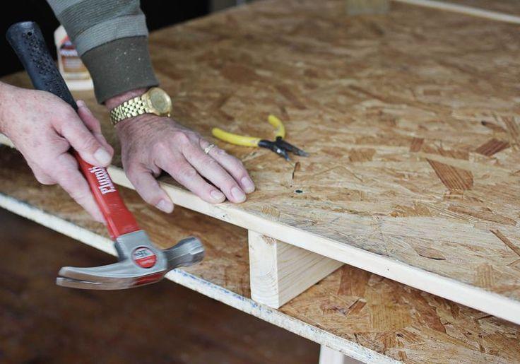 Build a DIY Desk with Storage | abeautifulmess.com | #diy #organize