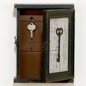 Kyle Hanging Key Box World Market --- secret key box & I have the perfect place to hide it !