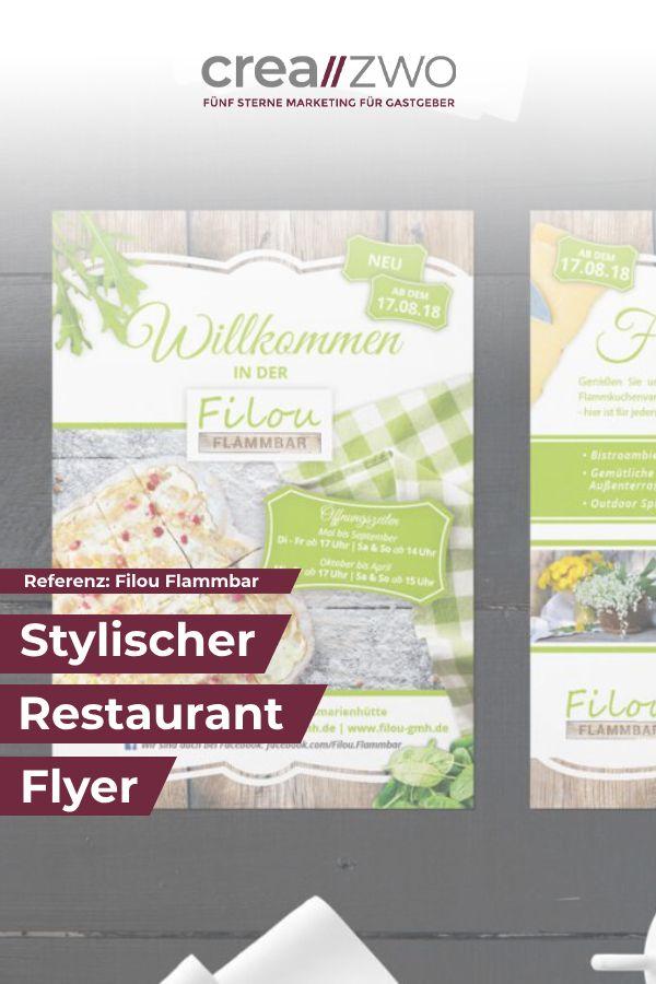 Schone Flyer Fur Ihr Restaurant Restaurant Flyer Passend Zum Corporate Design Referenz Speisekarte Flyer Restaurant