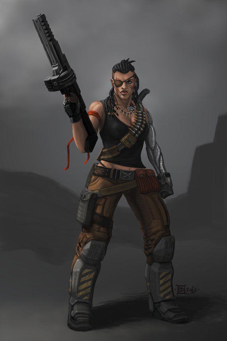 Female Mercenary Riva by Buashei on DeviantArt