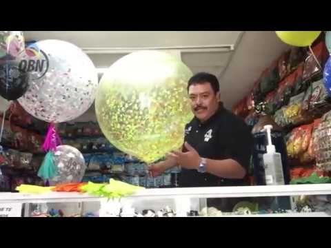 ¡Te enseñamos a decorar un globo gigante con confeti y papel de china! - YouTube