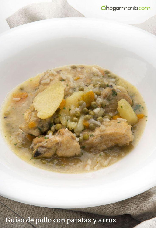 Guiso de pollo con patatas y arroz, receta de Karlos Arguiñano.