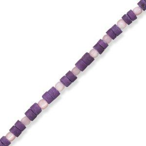 Purple Wood and Shell Fashion Anklet BillyTheTree Jewelry. $8.50. Satisfaction guaranteed