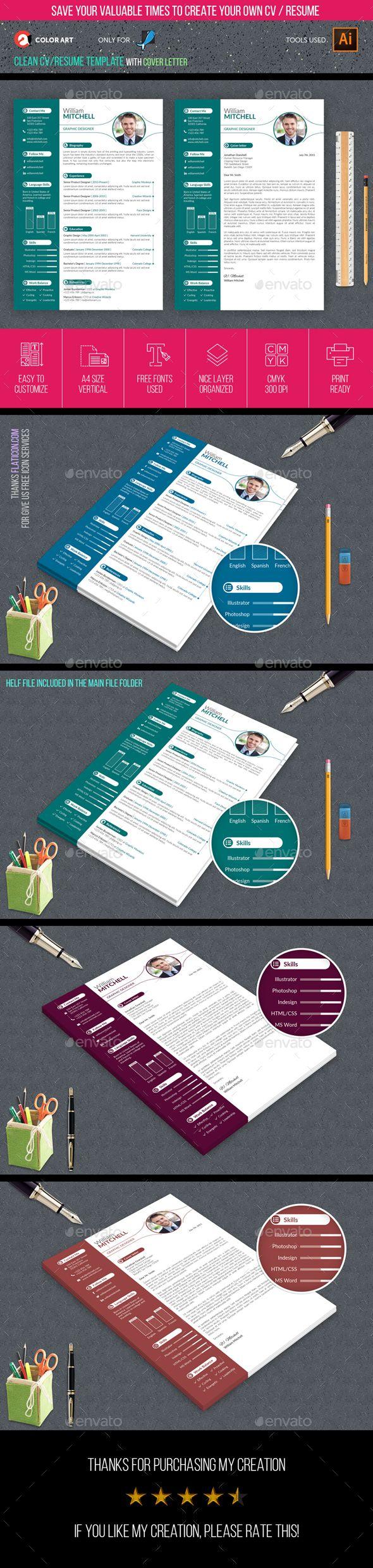 Resume 45 best CVResume templates images on