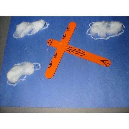 ✔️Types of Transportation Popsicle stick airplane