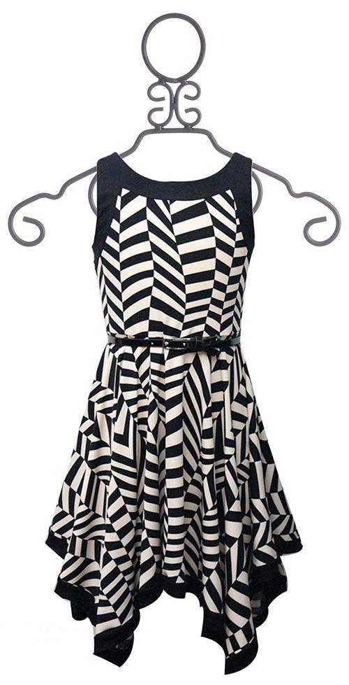 Hannah Banana Tween Geometric Handkerchief Dress $39.00