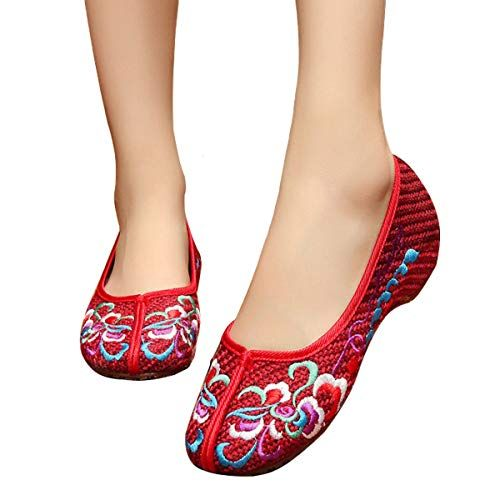 6bd6ffd3f300a CINAK Embroidery Shoes for Women Comfort Slip-on Flats Casual ...