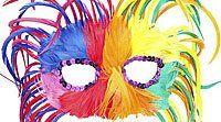 Colorido antifaz de Carnaval - Antifaces para niños y padres. Manualidades de Carnaval