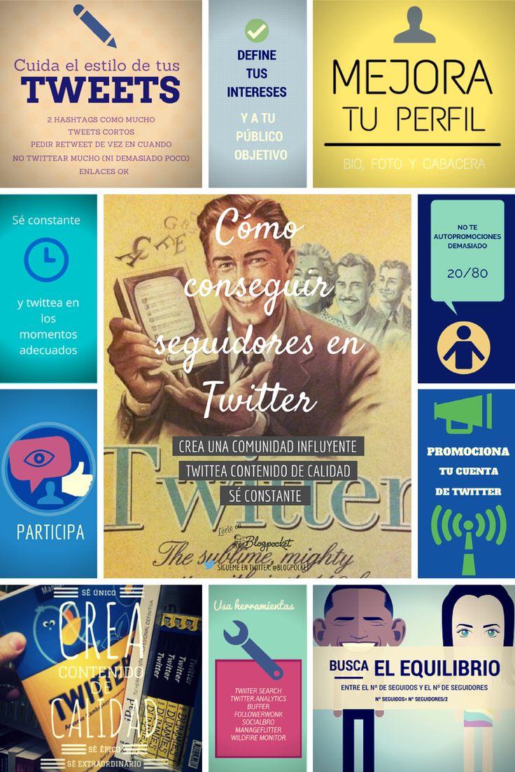 Cómo conseguir seguidores en Twitter #infografia