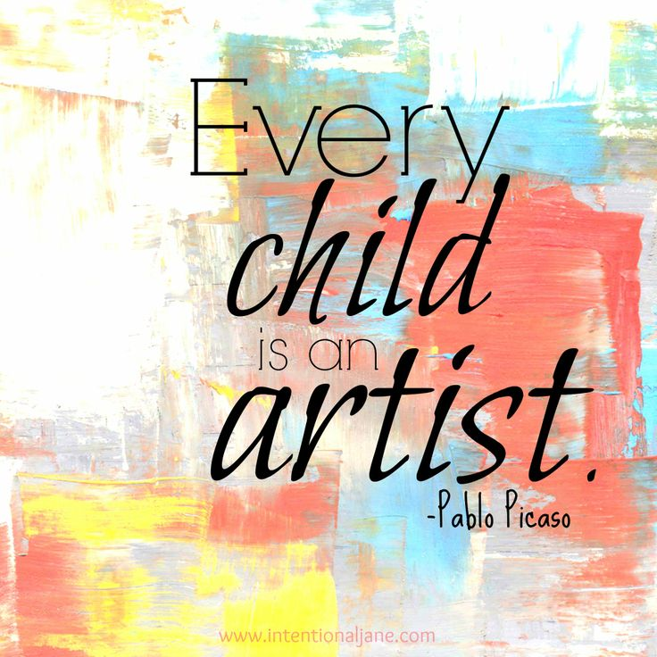 use this quote for kids art wall Quotes 2 Pinterest