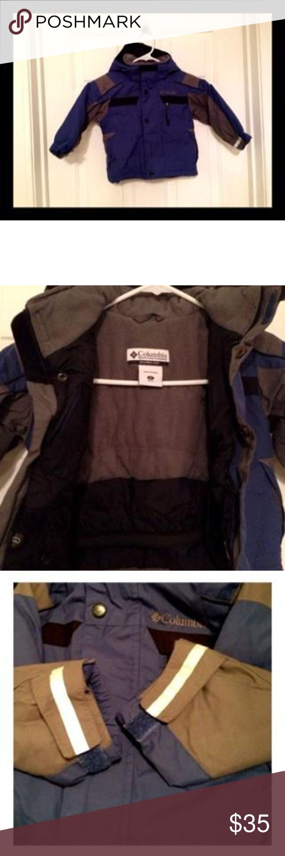 TODDLER COLUMBIA COAT Dark blue color. Zipper works. No stains on the sleeves. In wonderful condition. Can even fit up to a 3T! Columbia Shirts & Tops