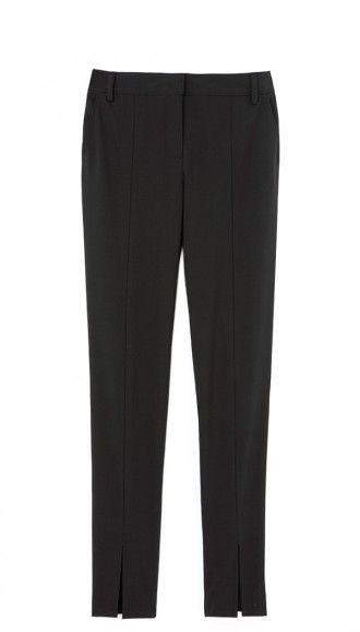 The perfect fitted trousers are a workwear and after hours wardrobe staple. Front Slit Tropical Wool Slim Pant.