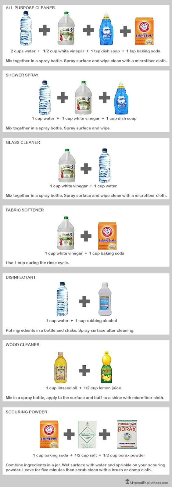 NaturalCleaningRecipes.jpg (565×1600)