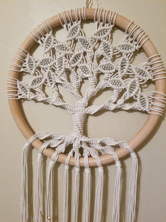 Tree Of Life Large Macrame Wall Hanging Circle Art