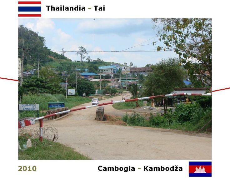 Confini amministrativi - Riigipiirid - Political borders - 国境 - 边界: 2010 KH-TH Kambodža-Tai Cambogia-Thailandia