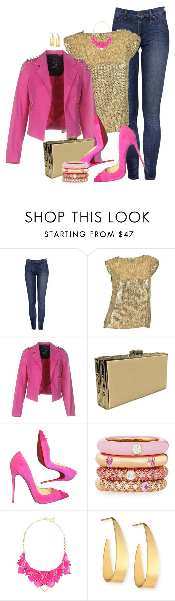 """PINK STUD by ShaunSlay"" by shaunslay ❤ liked on Polyvore featuring Pierre Balmain, Philipp Plein, Judith Leiber, Christian Louboutin, Adolfo Courrier, George J. Love and Lana"