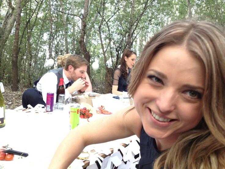 Picnicking at a wedding