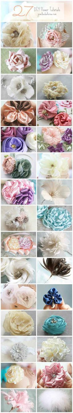 27 DIY Flower Tutorials and Patterns in Fabric, Paper, and Feather