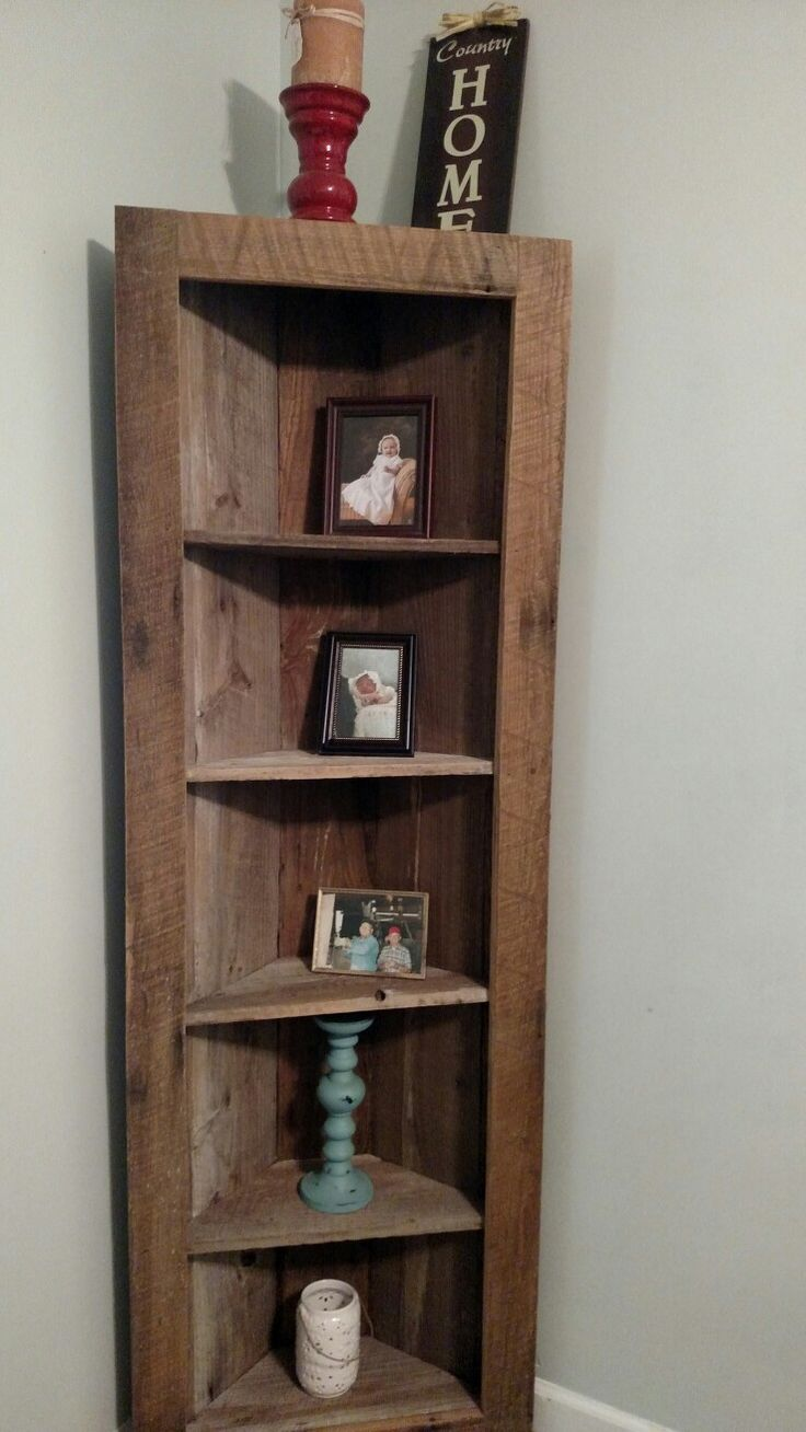Old Pine Barnwood Corner Shelf Just Finished For Our House