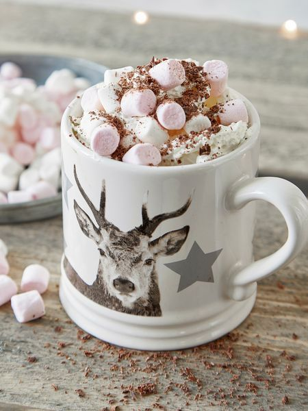 Our gorgeous Nordic Deer mug is perfect for any type of hot drink.