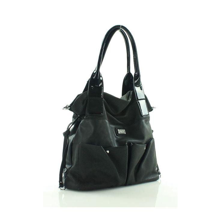 Fekete elöl zsebes Furrini táska