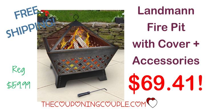WOOHOO! This would look perfect on your patio or backyard! The Landmann Fire Pit with Cover and Accessories is only $69.41 shipped! (reg $159.99!) Grab it now before the price goes back up!  Click the link below to get all of the details ► http://www.thecouponingcouple.com/landmann-fire-pit/ #Coupons #Couponing #CouponCommunity  Visit us at http://www.thecouponingcouple.com for more great posts!