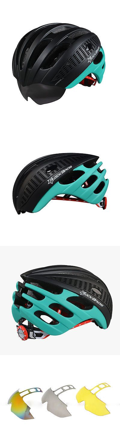 Helmet Accessories 177865: Rockbros Cycling Helmet Unisex Mtb Road Bike Helmet L/Xl 57Cm-62Cm Black Green BUY IT NOW ONLY: $49.97