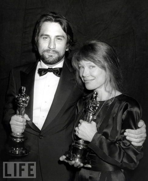 "Robert De Niro Best actor award 1980 for ""Raging Bull"" and Oscar as Best Actress for Sissy Spacek for ""Coal Miner's Daughter"""