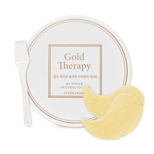 Etude House Gold Therapy Eye Patch 60ea                          Features              Eye patch with gold bright eye patch with gold effect to give collagen elasticity for all time moisture firm eye areas.         High fit new type of temperature hydro g