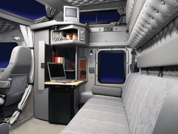 I want to design the inside of a semi truck cab someday this will help me to know how the for Custom semi truck sleeper interior