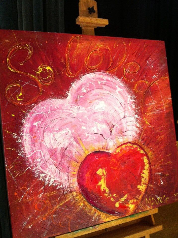 """""""So Loved"""". Painted live in 30 mins worship at DaySpring Church, Sydney. #wendymanzo #propheticart #worshipart #liveart #speedpainting"""