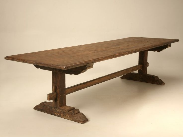 long farm table for sale | ... Tables > Dining-Kitchen Tables > Circa 1840 Italian Trestle Farm Table