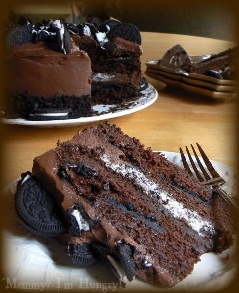 Chocolate Oreo Cake Ingredients      1 package (2-layer size) Devil's Food Cake Mix     4 ounces Semi-Sweet Baking Chocolate     1/4 cup Butter     1 (8 ounce) package Cream Cheese, softened     1/2 cup White Sugar     2 cups thawed frozen Whipped Topping     12 Oreo Cookies, coarsely crushed